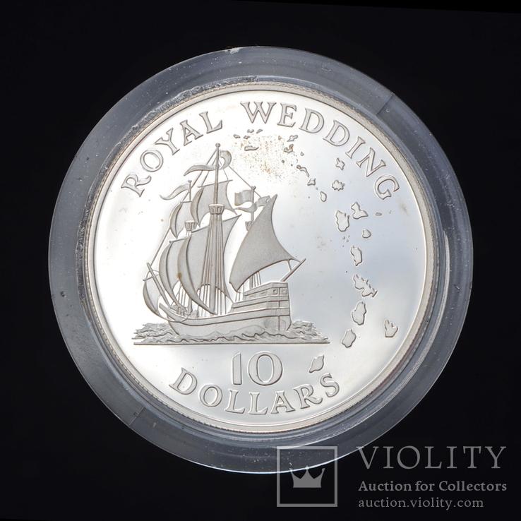 10 Долларов 1981 Свадьба принца Чарльза и леди Дианы, Восточные Карибы, фото №2