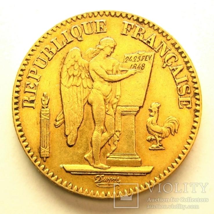 Франция 20 франков 1848 г., фото №2