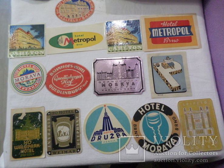 Этикетки от гостигиц 1950-60 года, фото №2