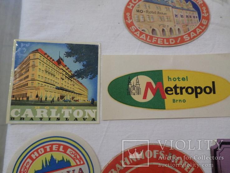 Этикетки от гостигиц 1950-60 года, фото №4