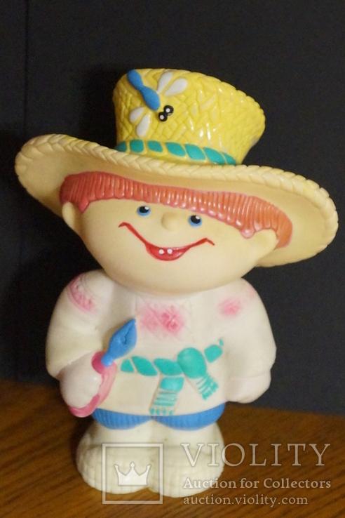 """Гумова іграшка """"Сільський монтер"""", фото №2"""