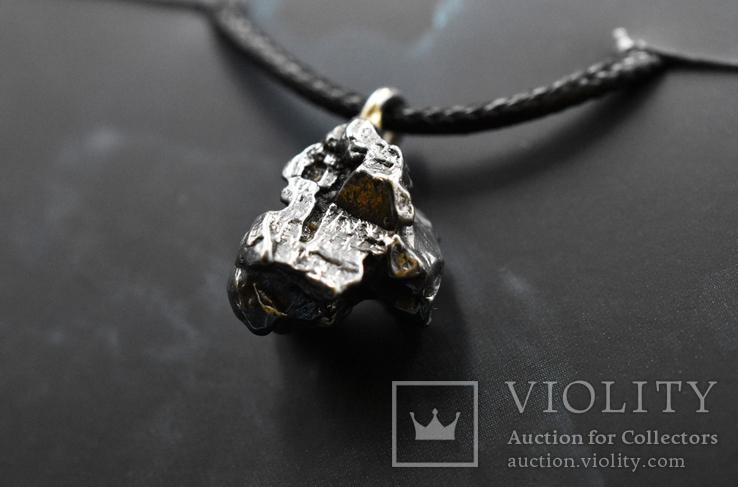 Кулон с метеоритом, Campo Del Cielo, Железный метеорит, Уникальный подарок, фото №2