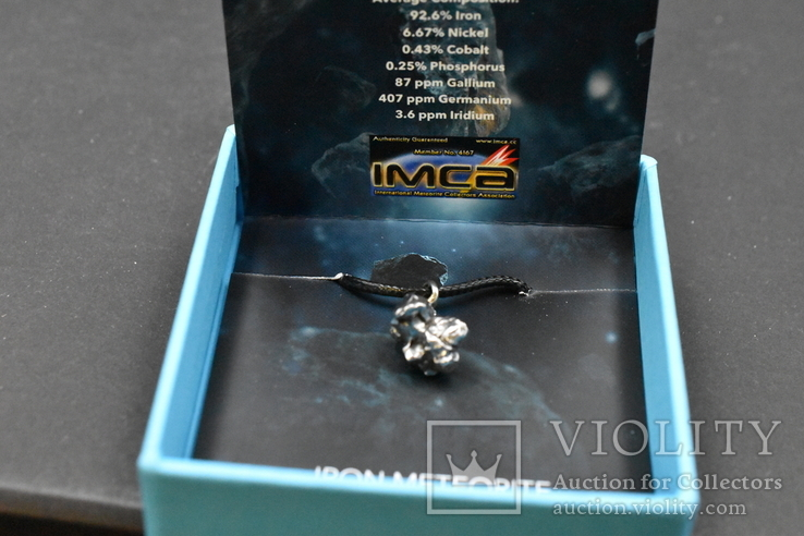 Кулон с метеоритом, Campo Del Cielo, Железный метеорит, Уникальный подарок, фото №6