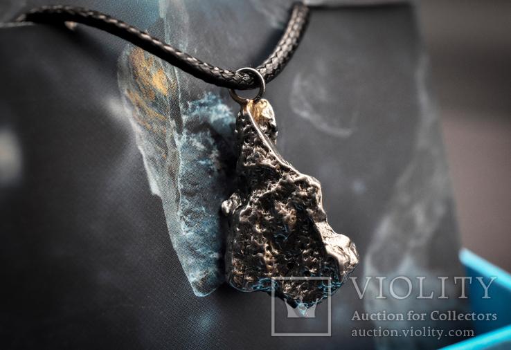 Кулон с метеоритом, Campo Del Cielo, Железный метеорит, Уникальный подарок, фото №4