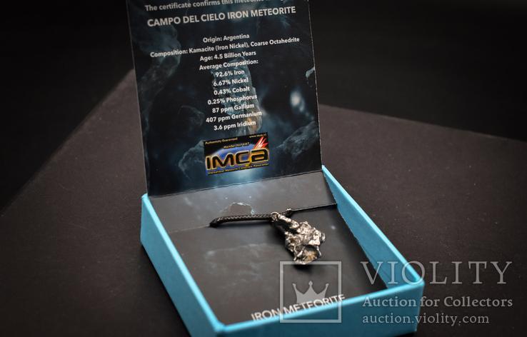 Кулон с метеоритом, Campo Del Cielo, Железный метеорит, Уникальный подарок, фото №5