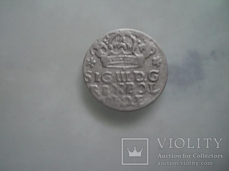 Грош коронный 1624 г, фото №3
