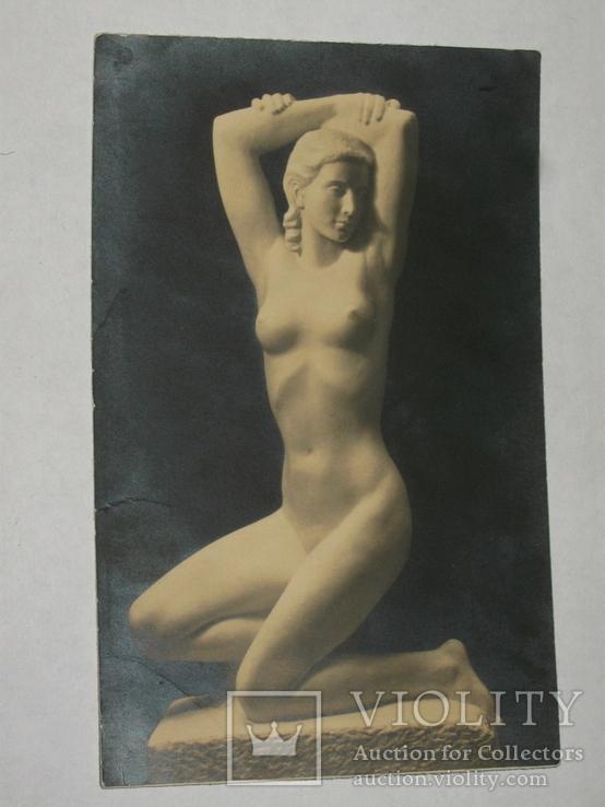 Открытка до 1917 Статуя девушки Ню.  №84, фото №2