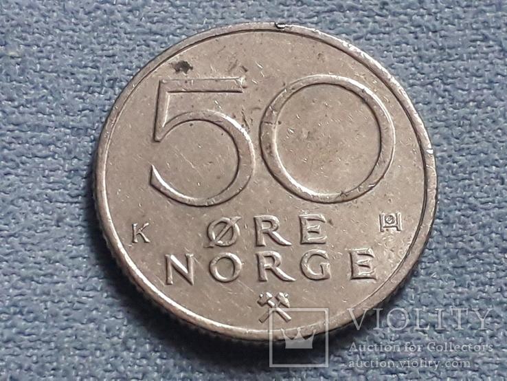 Норвегия 50 эре 1986 года, фото №2