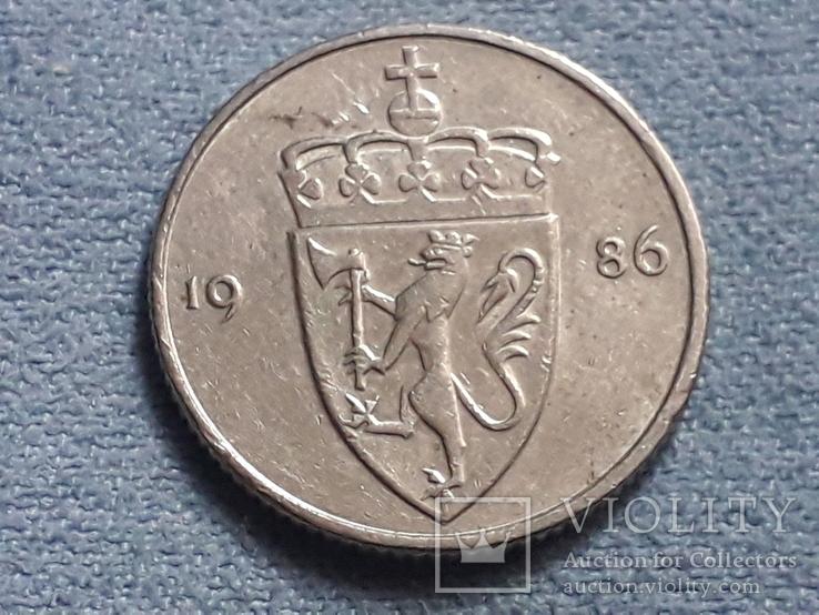 Норвегия 50 эре 1986 года, фото №3