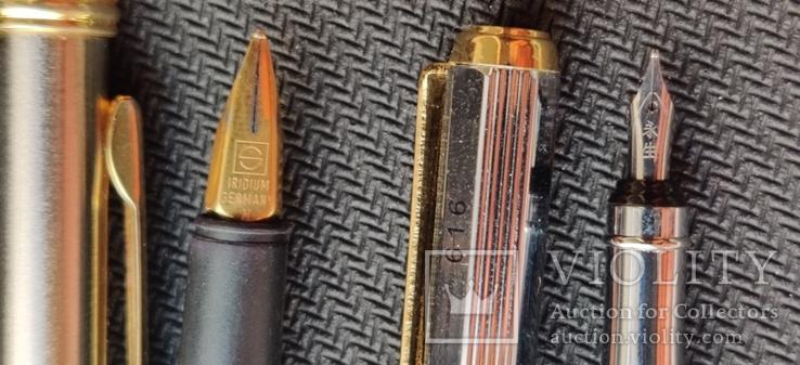 Две перьевые ручки(иридивое перо и нумерная), фото №5