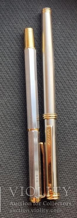 Две перьевые ручки(иридивое перо и нумерная), фото №6