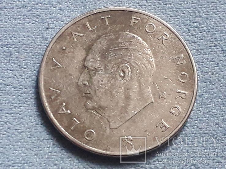 Норвегия 1 крона 1974 года, фото №3