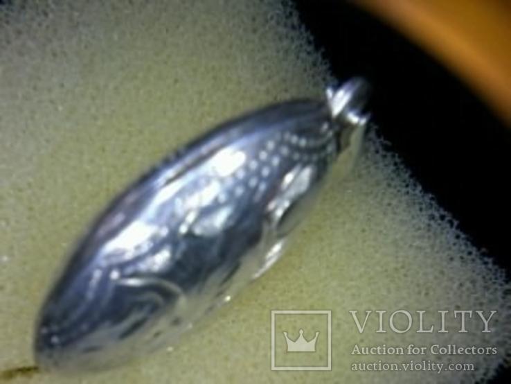 Кулон под фото 925 пробы, 4.42 гр. h-38мм, фото №5