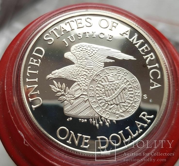 США 1 доллар 1998 г.Роберт Кеннеди. Серебро. Пруф, фото №3