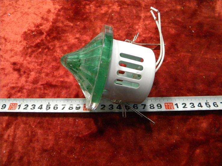 Светильники 10 штук+10 лампочек зелёное стекло., фото №9