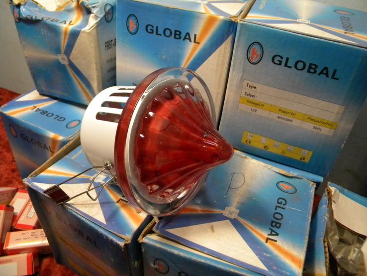 Светильники Красные 10 штук+10 лампочек., фото №3