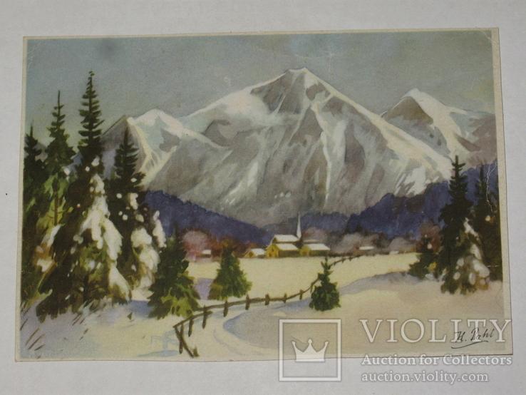 Открытка 1910-1950 годы.   №102, фото №2