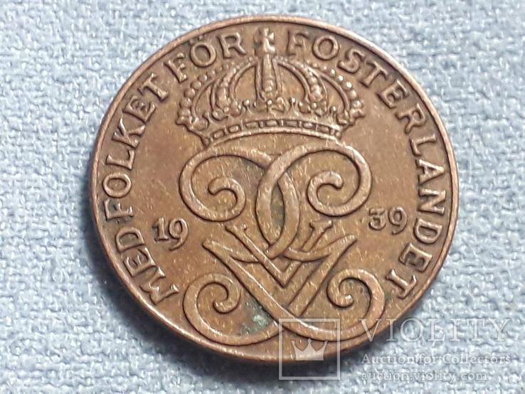Швеция 2 эре 1939 года, фото №3