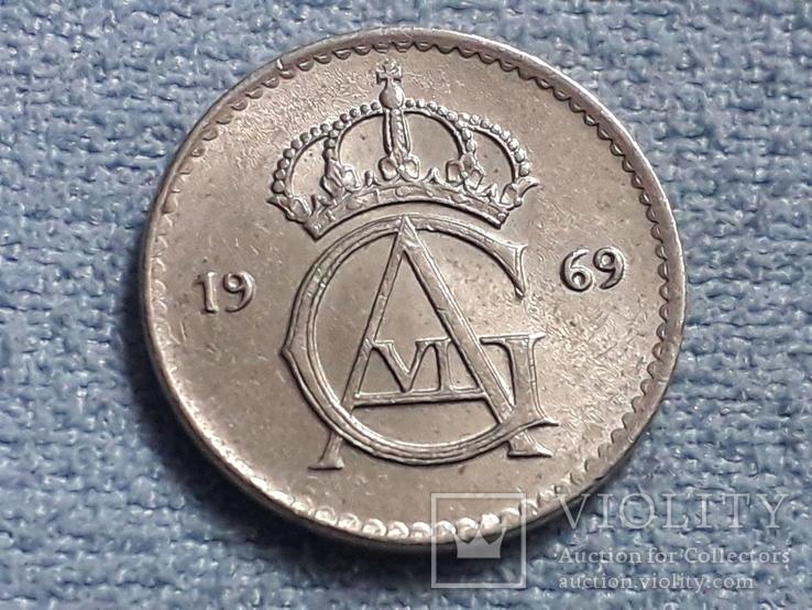 Швеция 10 эре 1969 года, фото №3