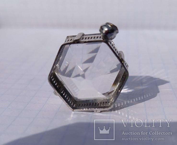 Кулон горный хрусталь, серебро., фото №6