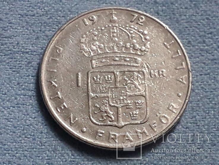 Швеция 1 крона 1972 года, фото №2