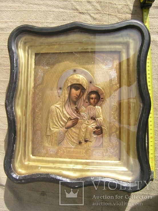 Икона  Смоленская   Пресвятая Богородица в киоте, фото №2