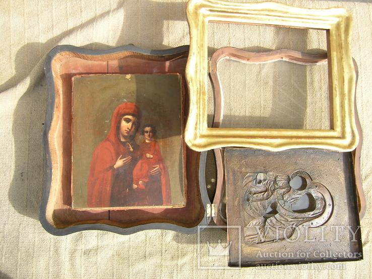 Икона  Смоленская   Пресвятая Богородица в киоте, фото №5