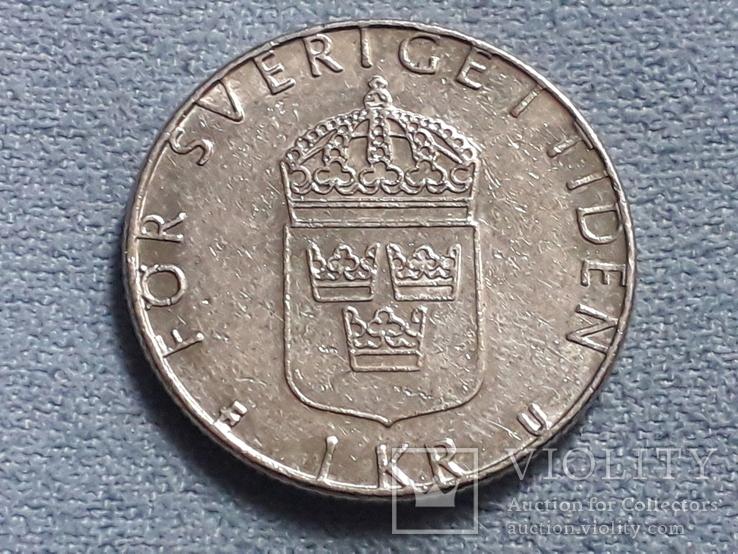 Швеция 1 крона 1980 года, фото №2