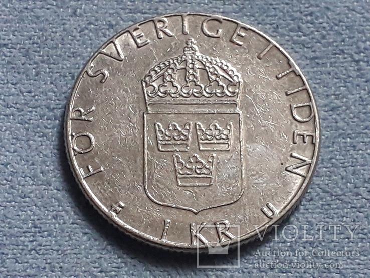 Швеция 1 крона 1983 года, фото №2