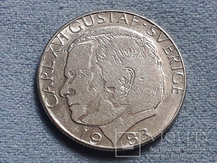 Швеция 1 крона 1983 года, фото №3