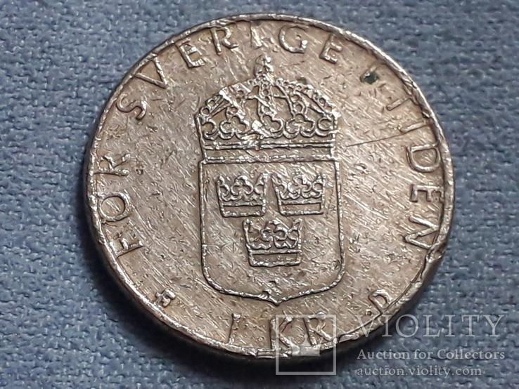 Швеция 1 крона 1991 года, фото №3