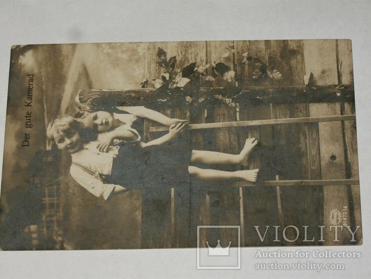Открытка 1910-1950 годы.   №126, фото №3