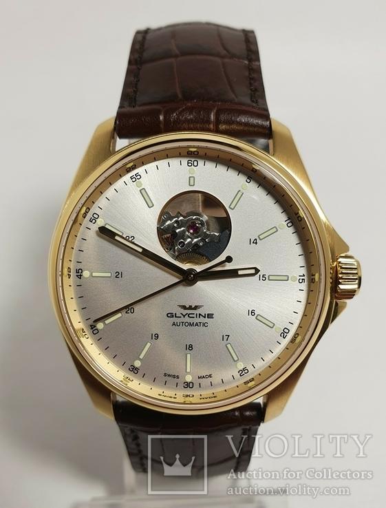 Новые Glycine Combat Classic Automatic Silver Dial Men's Watch GL0121, фото №3
