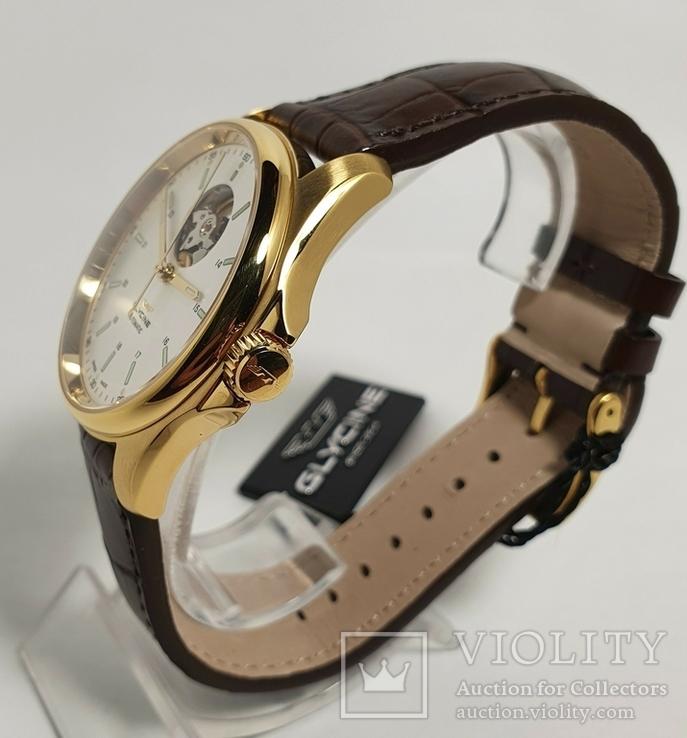 Новые Glycine Combat Classic Automatic Silver Dial Men's Watch GL0121, фото №5