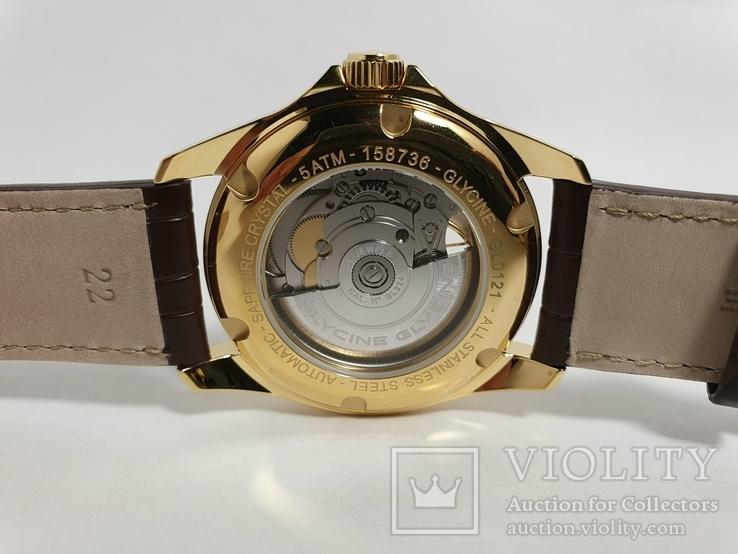 Новые Glycine Combat Classic Automatic Silver Dial Men's Watch GL0121, фото №9