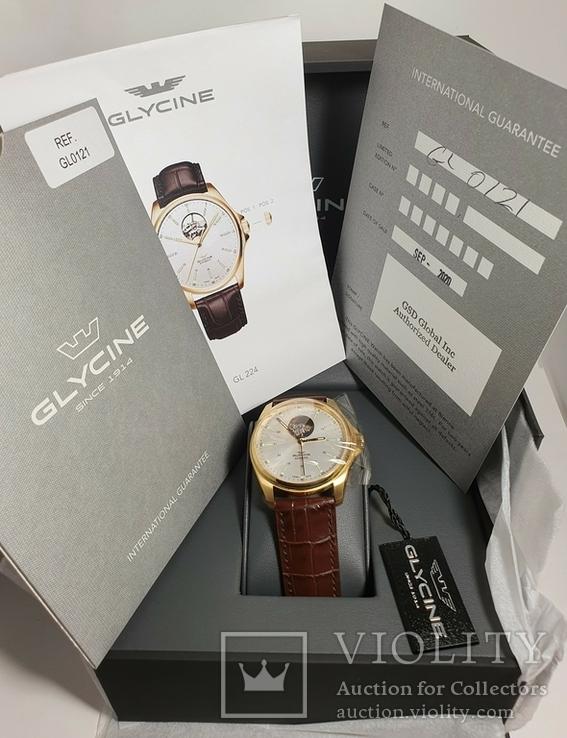 Новые Glycine Combat Classic Automatic Silver Dial Men's Watch GL0121, фото №11