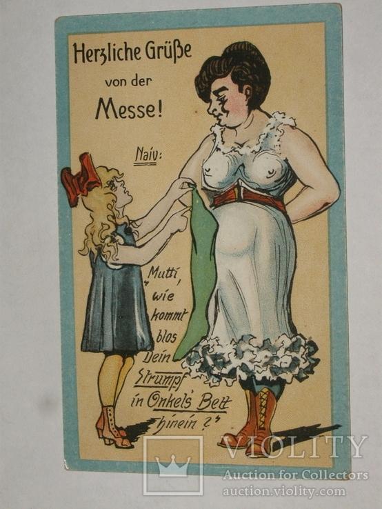 Открытка 1900-1945 годы Юмор Сатира  №131, фото №2