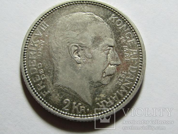 2 кроны 1912 Дания. серебро, фото №2