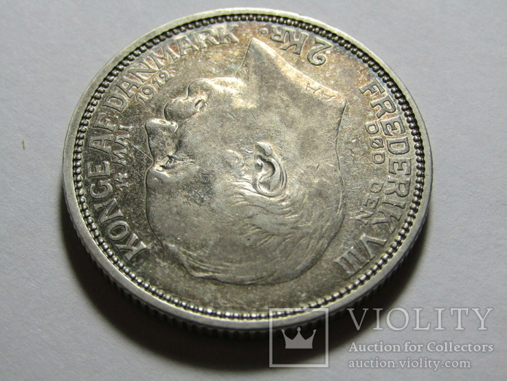 2 кроны 1912 Дания. серебро, фото №5