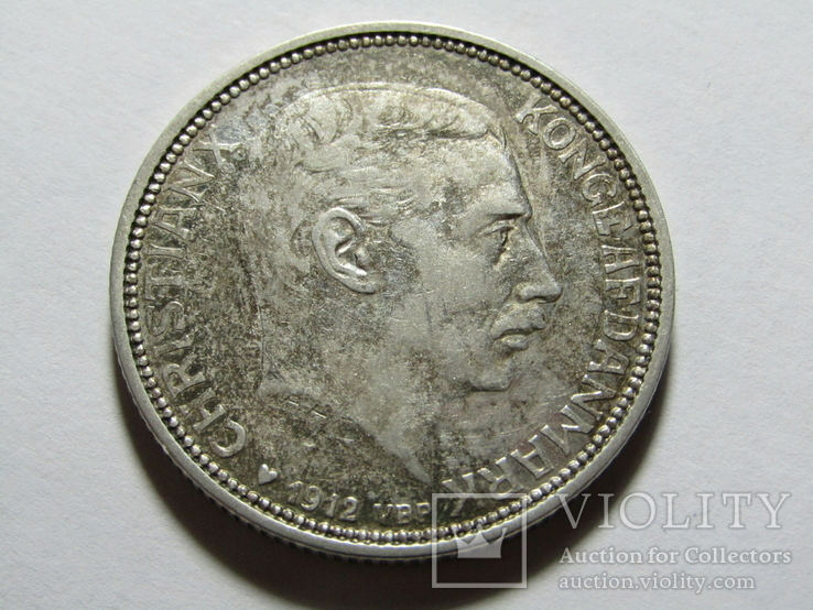 2 кроны 1912 Дания. серебро, фото №6