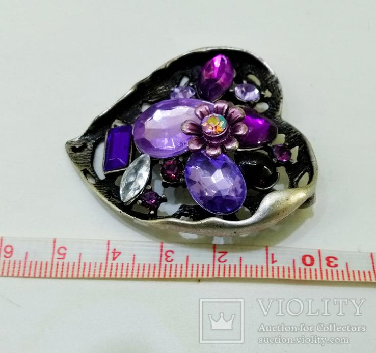 Подвеска мельхиор серебрение с камнями. 22,87 грамм, фото №4