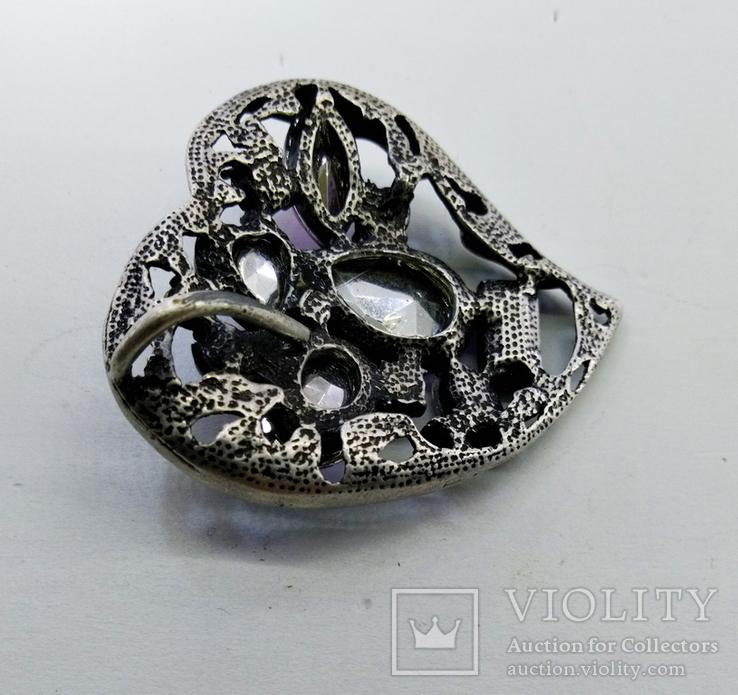 Подвеска мельхиор серебрение с камнями. 22,87 грамм, фото №11