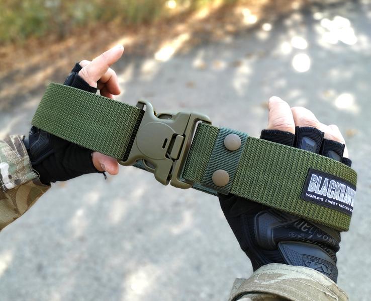 Тактический брючной ремень с фиксатором Blackhawk tactical (олива)