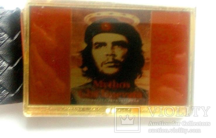 """Стильный набор  """"Че Гевара"""" - ремень, зажигалка, значок., фото №4"""
