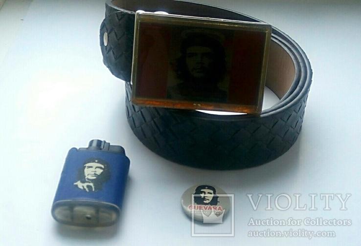"""Стильный набор  """"Че Гевара"""" - ремень, зажигалка, значок., фото №8"""