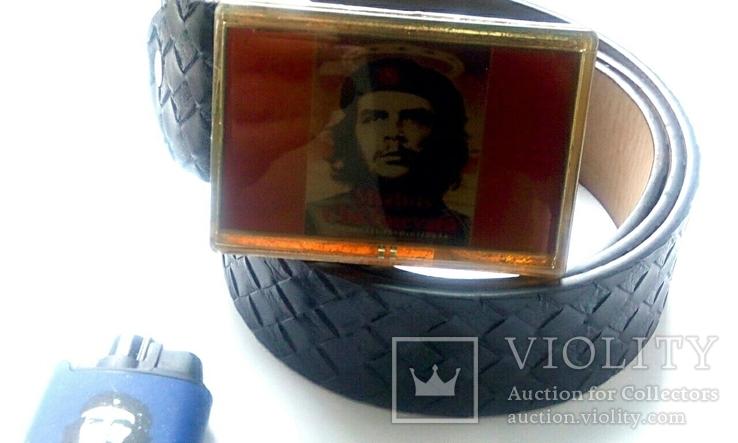 """Стильный набор  """"Че Гевара"""" - ремень, зажигалка, значок., фото №9"""