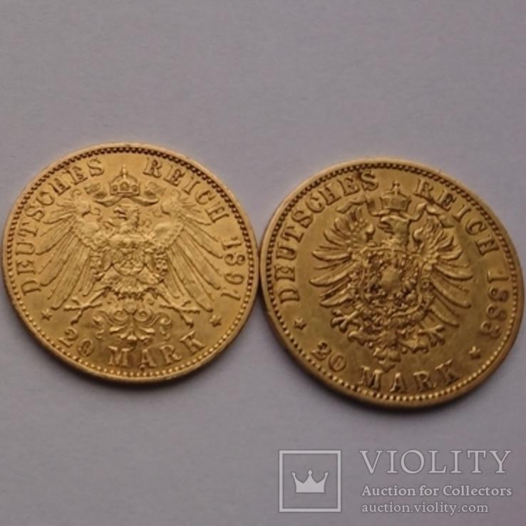 20 марок 2 шт., фото №3