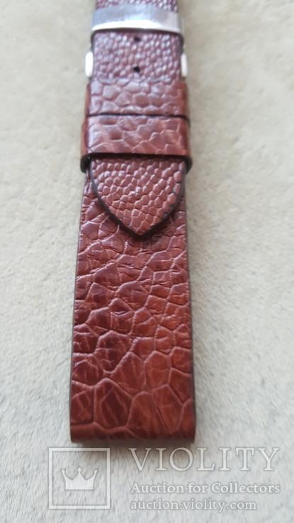 Ремень из кожи страуса 22 мм новый, фото №4