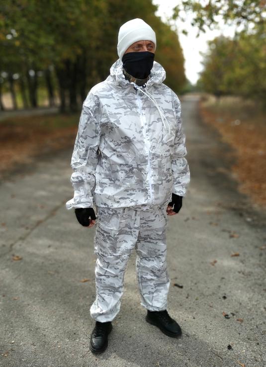 Зимний маскировочный костюм маскхалат белый - multicam alpine