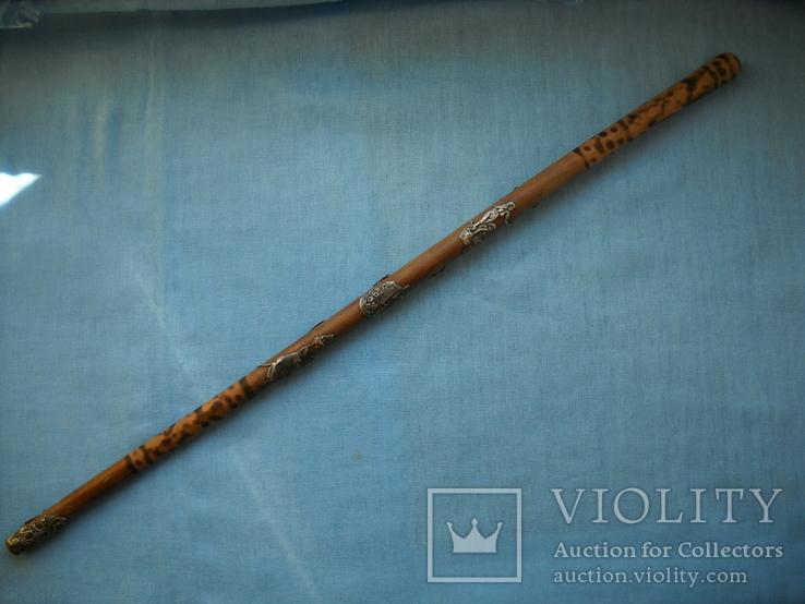 Палочка или указка с накладками из серебра 84 пробы, фото №2